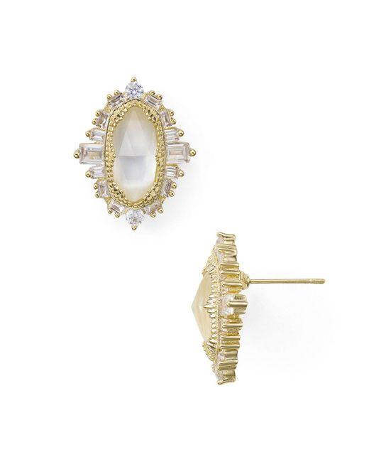 Kendra Scott | Metallic Keely Earrings | Lyst