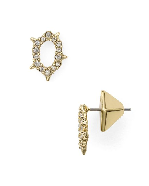 Alexis Bittar - Metallic Alexis Bitar Spiked Stud Earrings - Lyst