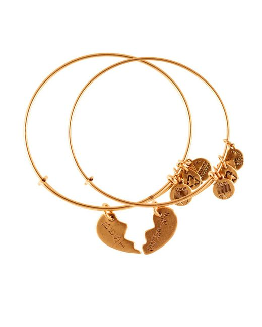 ALEX AND ANI | Metallic Best Friends Forever Set Of Two Bangles, Charity By Design Collection | Lyst
