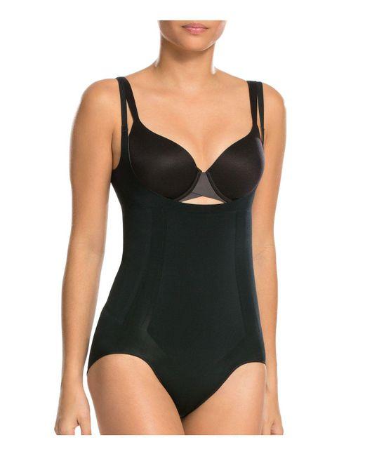 Spanx - Black Oncore Open-bust Bodysuit - Lyst