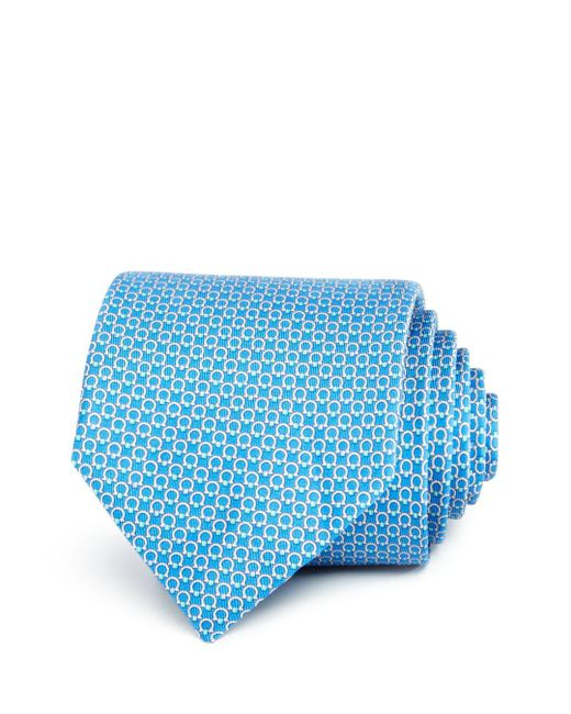 Ferragamo - Blue Multi Gancini Classic Tie for Men - Lyst
