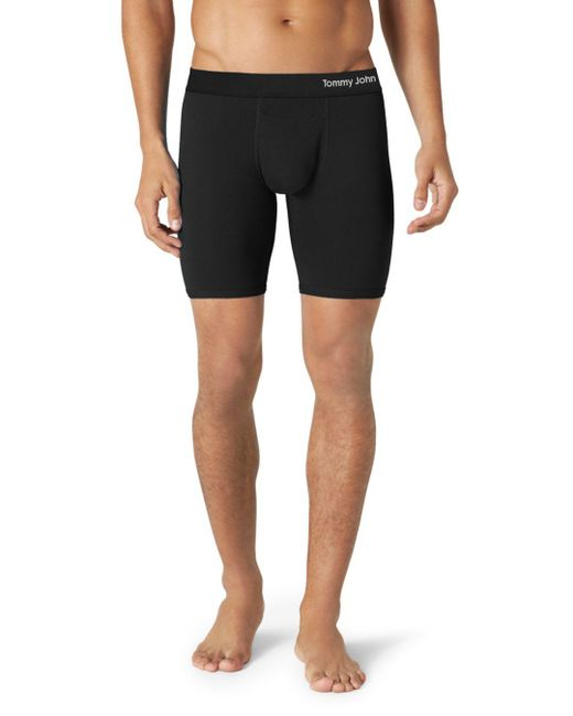 Tommy John - Black Cool Cotton Boxer Briefs for Men - Lyst