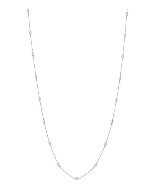 Bloomingdale's - Diamond Long Station Necklace In 14k White Gold, 2.0 Ct. T.w. - Lyst