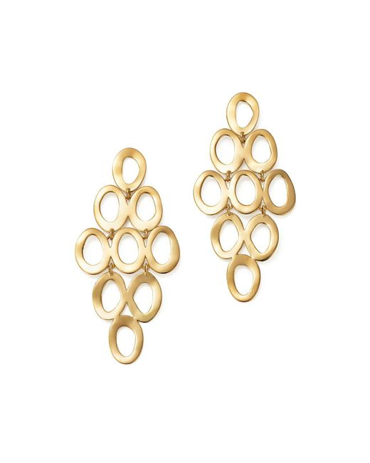 Ippolita | Metallic 18k Yellow Gold Open Cascade Earrings | Lyst