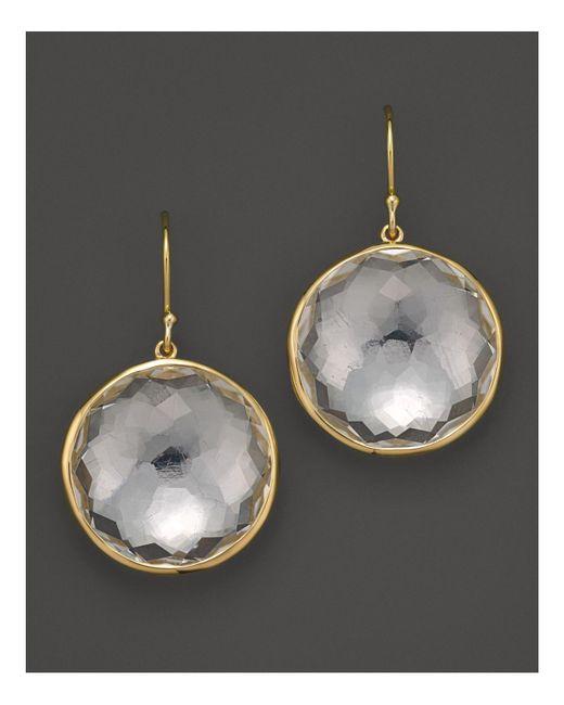 Ippolita | Metallic 18k Yellow Gold Large Lollipop Earrings In Clear Quartz | Lyst