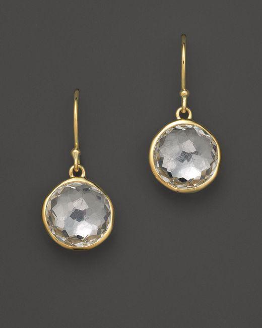 Ippolita | Metallic 18k Yellow Gold Lollipop Earrings In Clear Quartz | Lyst