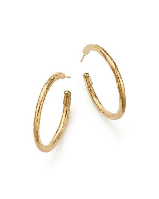 Ippolita | Metallic 18k Yellow Gold Glamazon #3 Faceted Hoop Earrings | Lyst