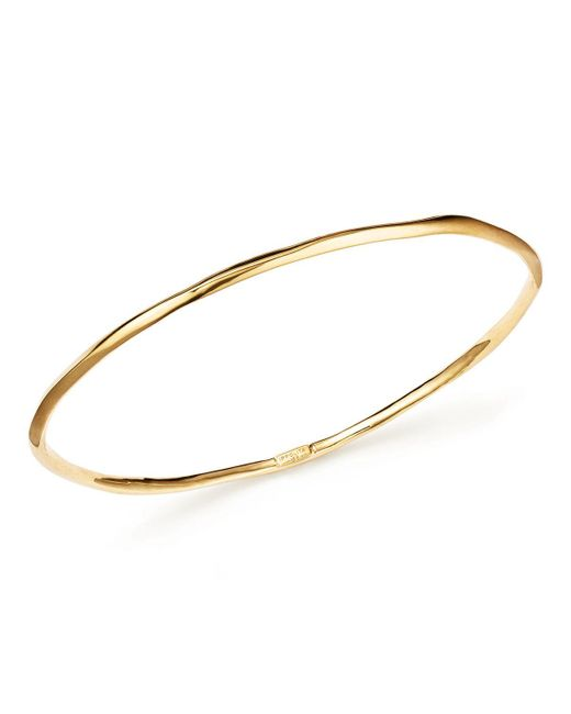 Ippolita   Metallic 18k Gold Glamazon Thin Bangle   Lyst