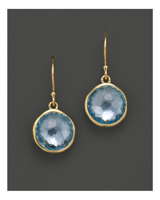 Ippolita | Metallic 18k Gold Lollipop Earrings In Blue Topaz | Lyst