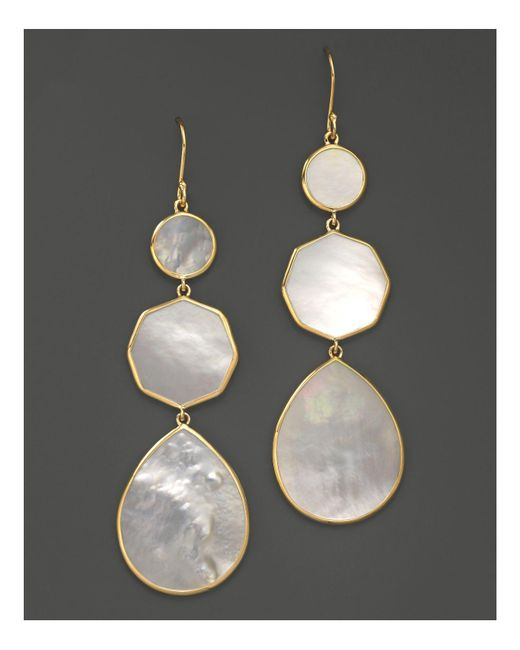 Ippolita | Metallic 18k Gold Polished Rock Candy Crazy 8's Earrings In Mother-of-pearl | Lyst
