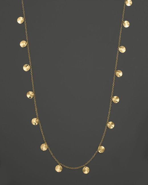 Ippolita | Metallic 18k Yellow Gold Paillette Necklace, 33"