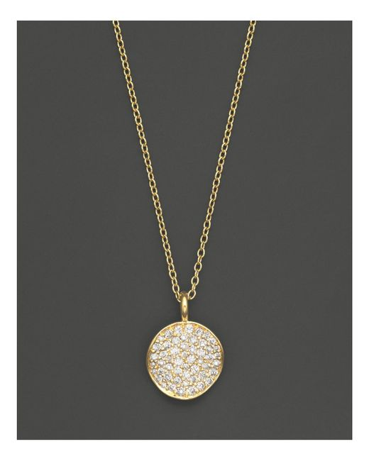 "Ippolita | Metallic 18k Yellow Gold Stardust Flower Pendant Necklace With Diamonds, 18"" | Lyst"