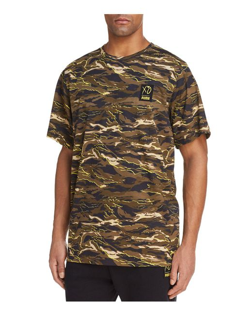 bc1798875b6 Slam Jam Socialism · Puma X Xo Washed Tee: Puma X Xo Camouflage Crewneck  Short Sleeve Tee For Men