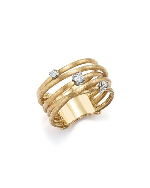 Marco Bicego - Metallic 18k Yellow Gold Luce Diamond Ring - Lyst