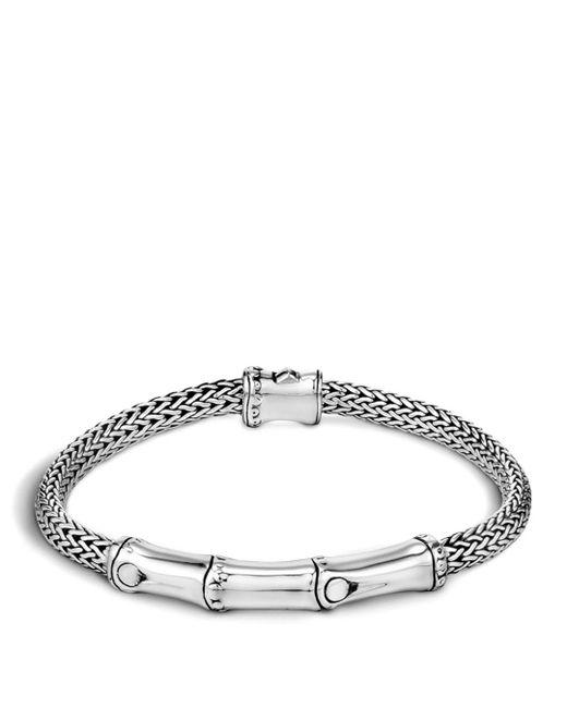 John Hardy - Metallic Sterling Silver Bamboo Station Bracelet - Lyst