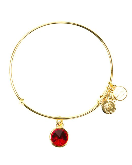 ALEX AND ANI | Yellow July Birthstone Bangle | Lyst