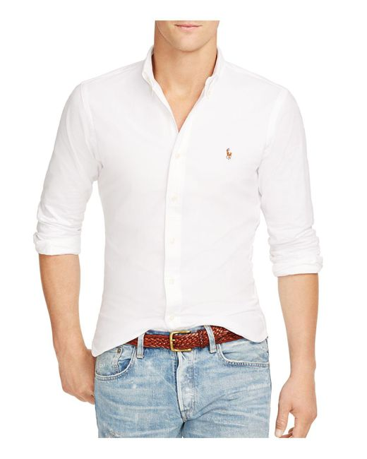 Polo Ralph Lauren - White Slim-fit Stretch-oxford Shirt for Men - Lyst