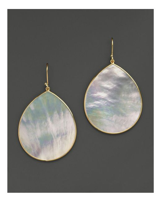 Ippolita | Metallic 18k Gold Polished Rock Candy Jumbo Teardrop Earrings In Mother-of-pearl | Lyst