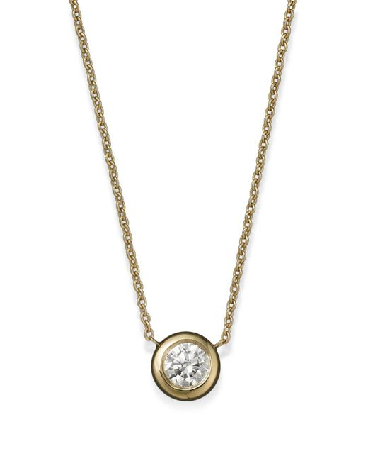 Roberto Coin | 18k Yellow Gold Diamond Bezel Pendant Necklace, 16"