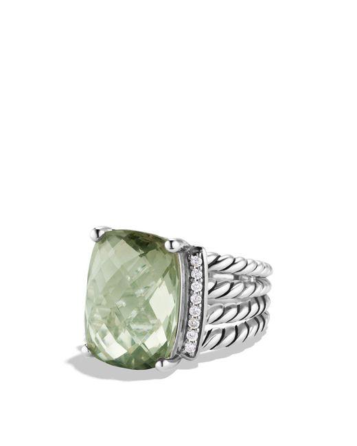 David Yurman - Metallic Wheaton Ring With Prasiolite And Diamonds - Lyst