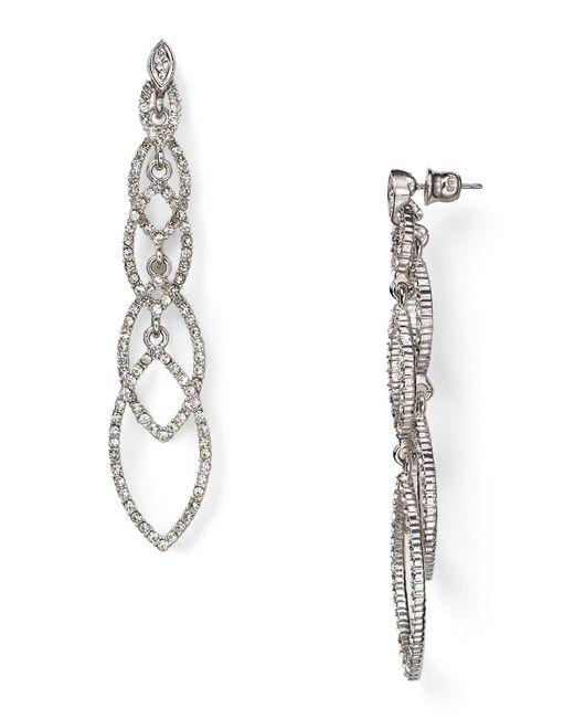 ABS By Allen Schwartz | Metallic Navette Linear Earrings | Lyst