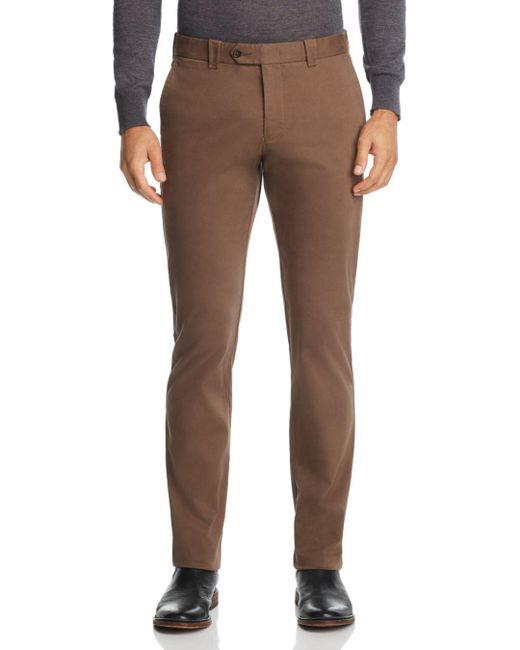 Bloomingdale's - Brown Tailored Fit Chinos for Men - Lyst