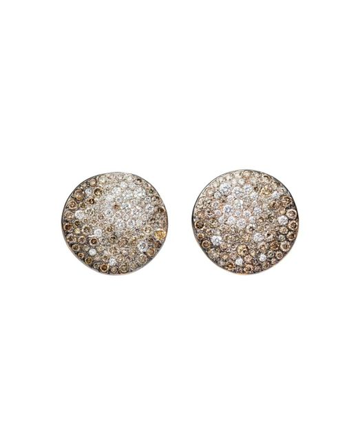Pomellato - Metallic Sabbia Earrings With Brown And White Diamonds In 18k Rose Gold - Lyst