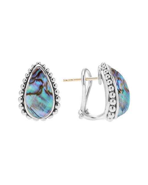 Lagos | Blue Sterling Silver Maya Abalone Doublet Half Hoop Earrings | Lyst