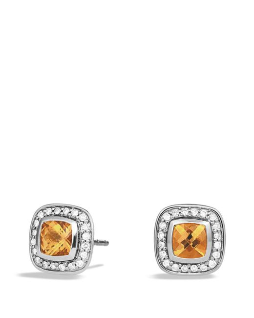 David Yurman - Orange Petite Albion Earrings With Citrine And Diamonds - Lyst