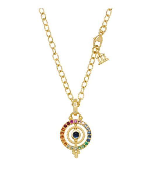 Temple St. Clair | Multicolor 18k Gold Mini Tolomeo Pendant With Multi-colored Sapphires And Diamonds | Lyst