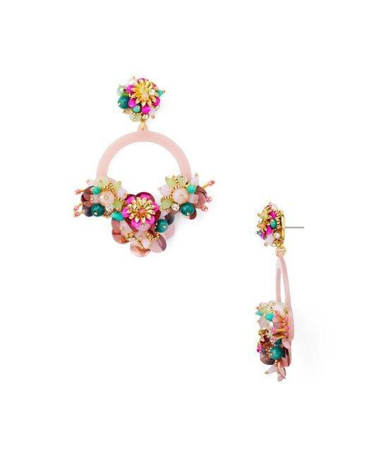 Kate Spade - Pink Floral Bouquet Drop Earrings - Lyst