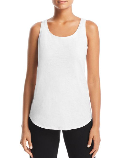 Eileen Fisher - White System Scoop Neck Tank - Lyst