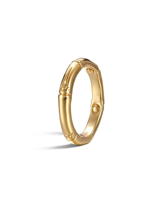 John Hardy - Metallic Bamboo 18k Yellow Gold Slim Ring - Lyst