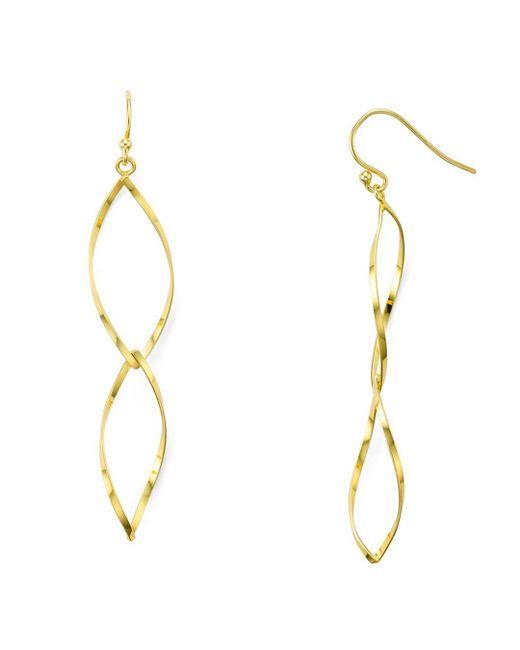 Aqua - Metallic Helix Drop Earrings - Lyst