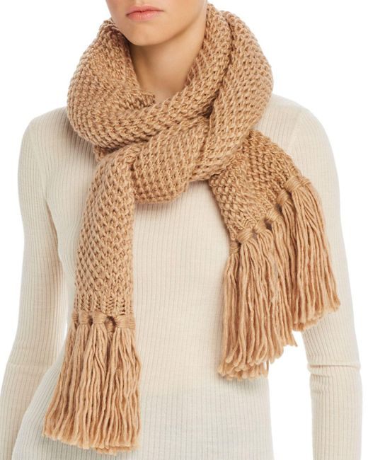Echo Natural Chunky Knit Scarf
