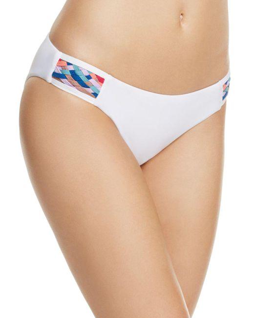 Red Carter - White Side Tab Woven Bikini Bottom - Lyst