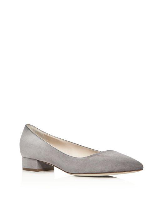 Giorgio Armani | Gray Asymmetrical Pointed Toe Low Heel Pumps | Lyst