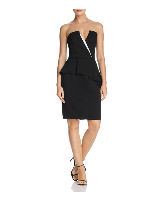 Adelyn Rae - Black Kacey Strapless Dress - Lyst