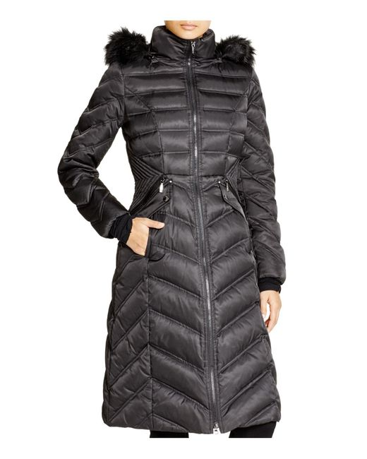 Laundry by Shelli Segal | Black Long Maxi Puffer Coat | Lyst