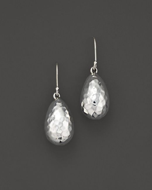 Ippolita - White Sterling Silver Glamazon® Medium Raindrop Bead Earrings - Lyst