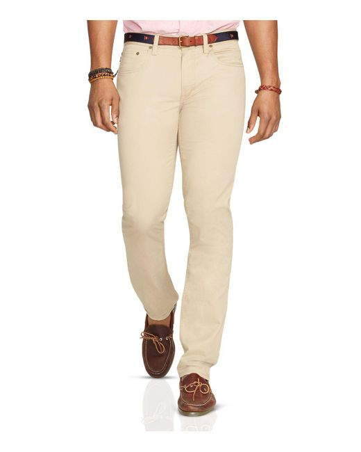 Polo Ralph Lauren | Natural Varick Five Pocket Slim Fit Pants for Men | Lyst