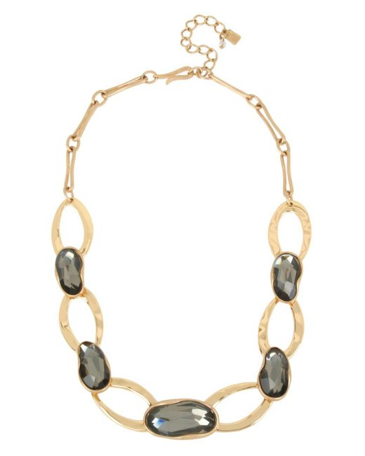 Robert Lee Morris - Metallic Stone & Oval Link Collar Necklace - Lyst