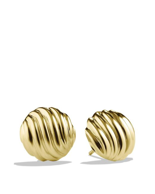 David Yurman - Yellow Sculpted Cable Earrings In Gold - Lyst