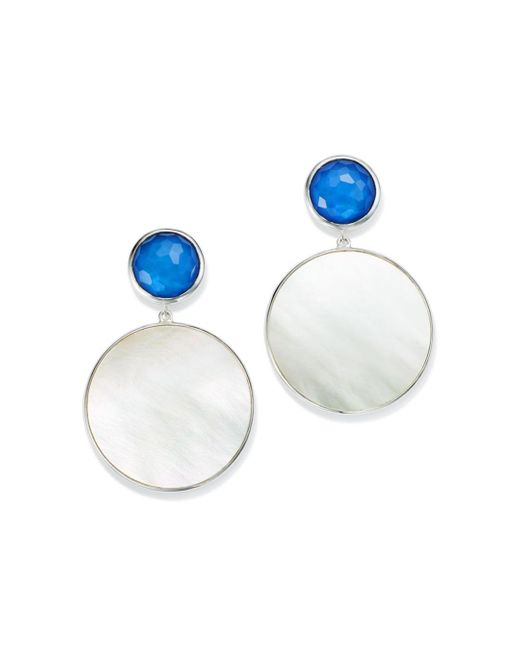Ippolita - Metallic Sterling Silver Wonderland Mother - Of - Pearl Doublet Drop Earrings - Lyst