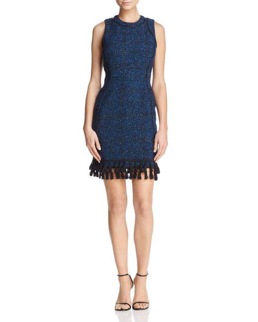 Adelyn Rae - Blue Olivia Bouclé Sheath Dress - Lyst