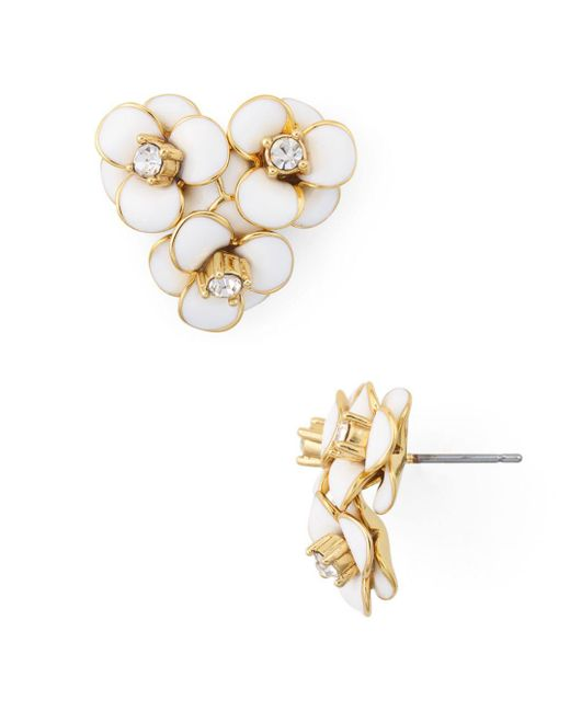 Kate Spade - White Flower Cluster Stud Earrings - Lyst