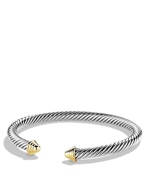 David Yurman - Metallic Cable Classics Bracelet With Gold - Lyst
