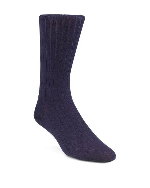 CALVIN KLEIN 205W39NYC - Blue Ribbed Dress Socks for Men - Lyst