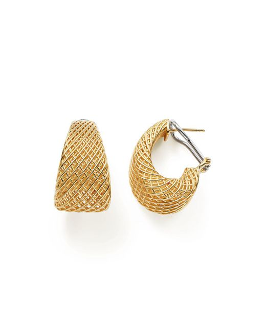 Roberto Coin | Metallic 18k Yellow Gold Silk Dome Earrings | Lyst