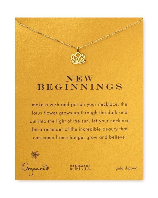 Dogeared | Metallic New Beginnings Necklace, 18"